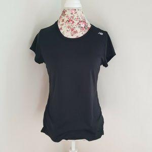 New Balance Black Workout Tee TShirt Short Sleeve